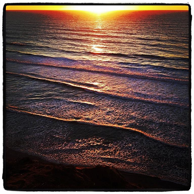 Sunset at Torrey Pines Preserve Blog iDiarist