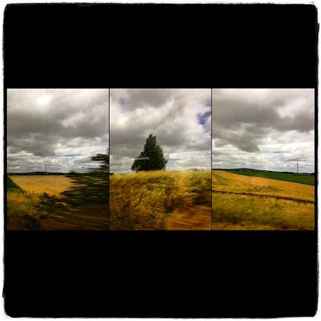 Train to Bath Triptych Blog iDiarist