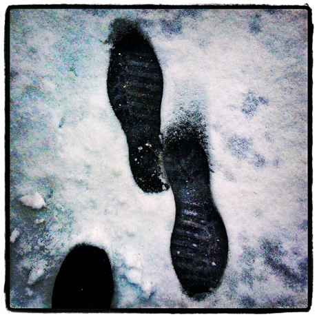 My Footsteps in Snow Blog iDiarist