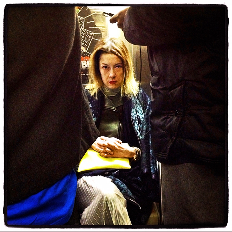 Woman on 1 Train Blog iDiarist