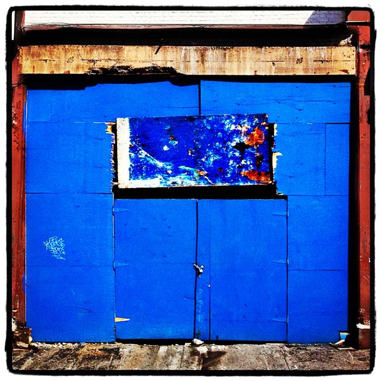 Blue Garage Door Astract Blog iDiarist