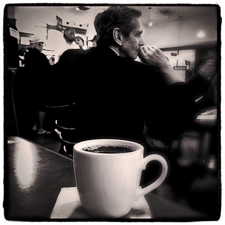 Man at Coffee Shop Blog iDiarist