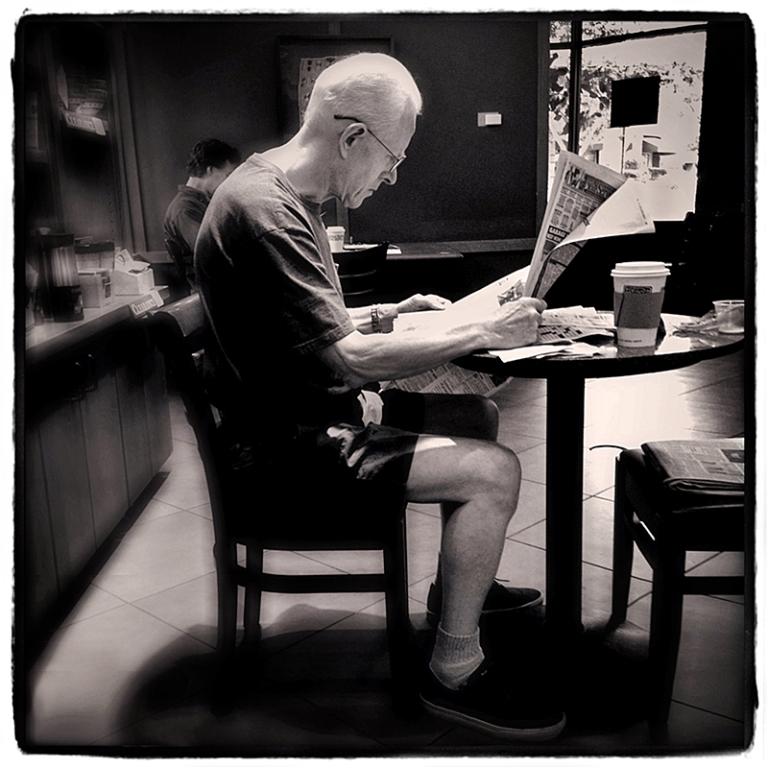Man Reading Newspaper Blog iDiarist