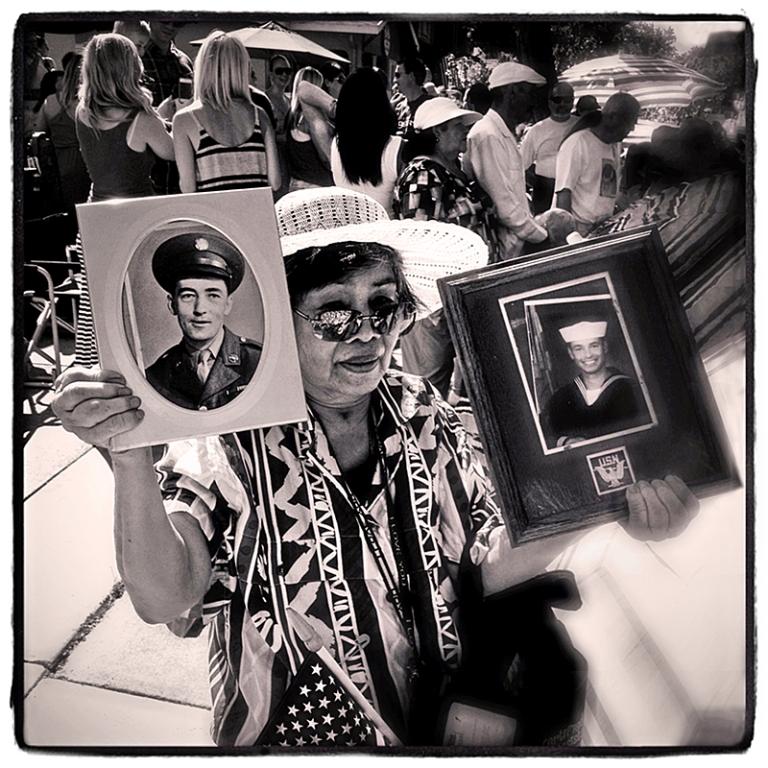 Woman at July 4th Parade Blog iDiarist