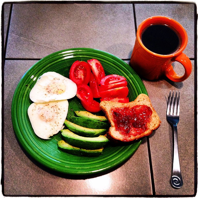 Breakfast on Fiesta Ware Blog iDiarist