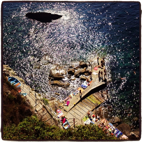 Swimming Hole at Corniglia Blog iDiarist