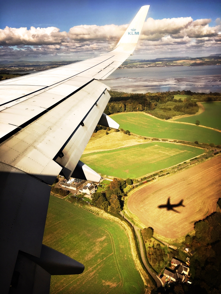 Flying into Edinburgh iDiarist Blog